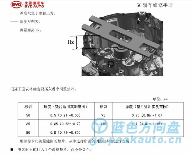 离合器安装定位片测量过程