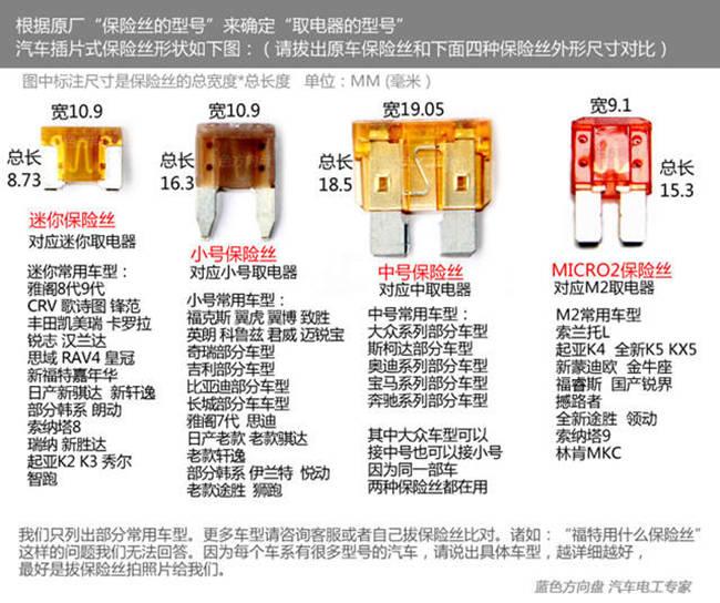 保险盒取电器4种型号